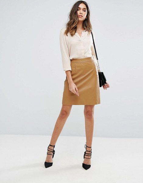 "Boss Orange Boss Orange Bastra Faux Leather Skirt in brown - """"Skirt by BOSS Orange By Hugo Boss, Faux-leather..."