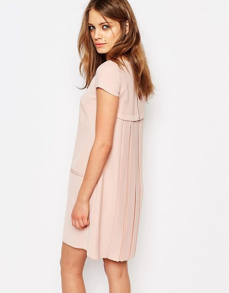 Boss Orange By Hugo Boss Pleat Back Shift Dress in pink - Dress by BOSS Orange By Hugo Boss, Lined woven fabric,...
