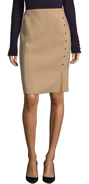 BOSS vikilena wool pencil skirt in warm camel