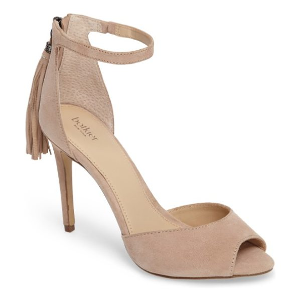 Botkier anna sandal in blush - A back tassel adds eye-catching movement to a...