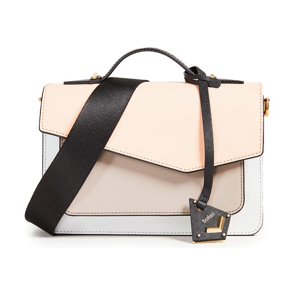 Botkier cobble hill cross body bag in peach - Leather: Cowhide Interchangeable cross-body straps...