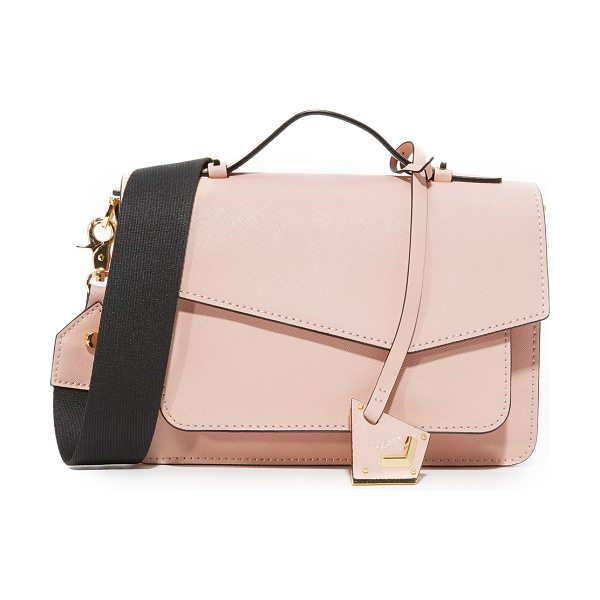 Botkier cobble hill cross body bag in blush - Sturdy saffiano leather lends structure to this small...
