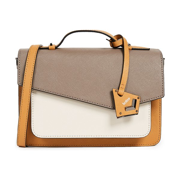 Botkier cobble hill cross body bag in truffle color block - A structured Botkier cross-body bag in colorblock...