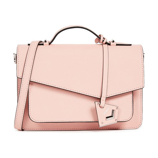 Botkier cobble hill cross body bag in blush - A structured Botkier cross-body bag in saffiano leather....