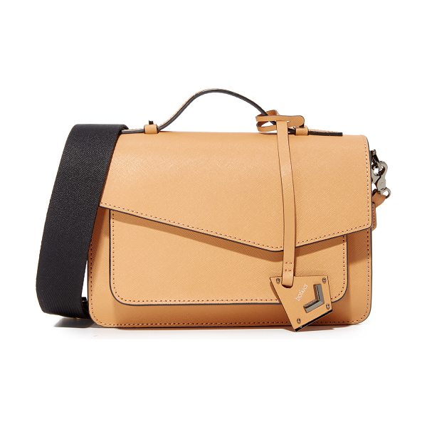 Botkier cobble hill cross body bag in camel - A structured, saffiano-leather Botkier cross-body bag...