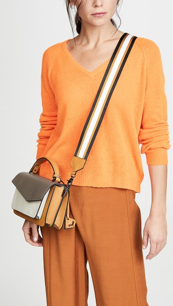 Botkier cobble hill crossbody bag in truffle color block
