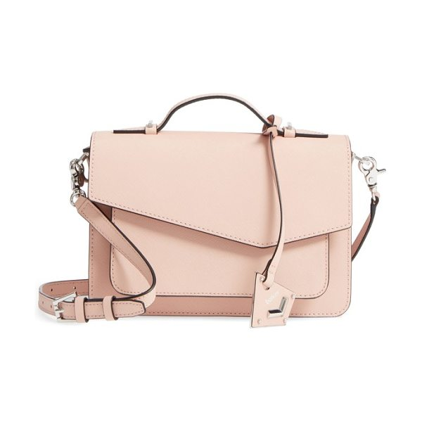 Botkier cobble hill leather crossbody bag in blush
