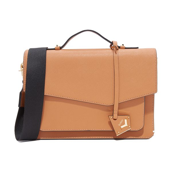 Botkier cobble hill satchel in honey - A structured Botkier cross-body bag in saffiano leather...