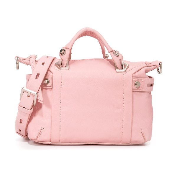 Botkier Flatiron Mini Satchel in blossom - Brushed hardware and decorative side straps lend a moto...