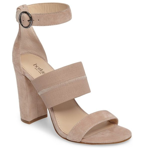 Botkier gisella ankle strap sandal in blush leather - A wide elasticized strap across the top perfects the fit...