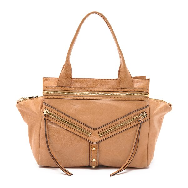 BOTKIER Large trigger satchel in camel - A large Botkier satchel in glazed leather with polished...
