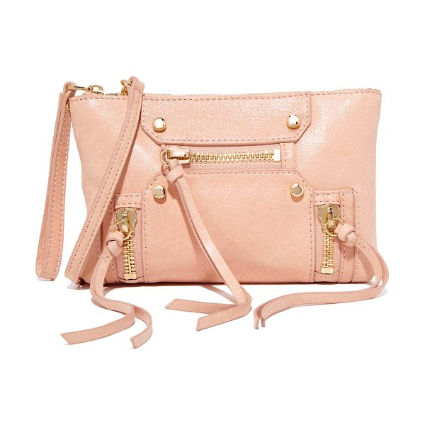 Botkier logan cross body bag in blush - Supple leather lends a perfectly worn feel to this tiny...