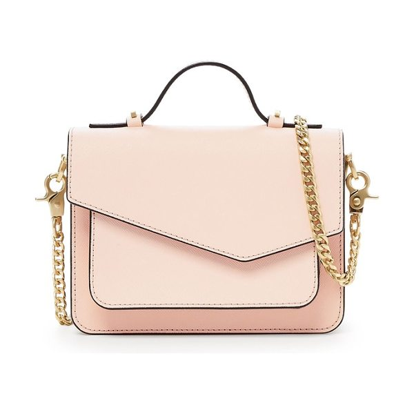 Botkier mini cobble hill calfskin leather crossbody bag in blossom - An asymmetrical flap and gilded hardware accents add...