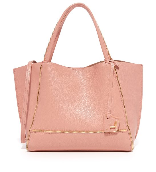 Botkier soho bite size tote in rose - Exposed zip trim lends a deconstructed edge to this...