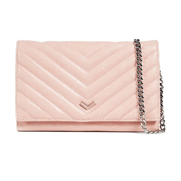 Botkier soho quilted wallet on a chain in blush - Leather: Cowhide Snap at front Card slots at interior...