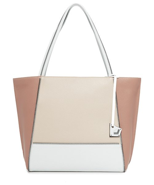 Botkier soho tote in seashell colorblock - Exposed zip trim lends a deconstructed edge to this...