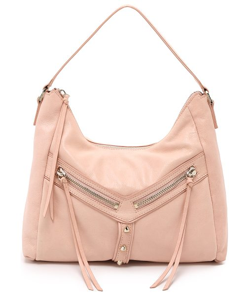 Botkier Trigger hobo bag in blush - A casual Botkier bag designed in glossy leather with...