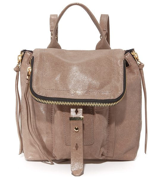 Botkier warren backpack in chai - Glazed, wrinkled leather composes this mid sized Botkier...