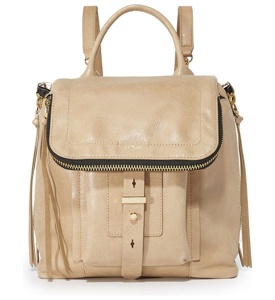 Botkier warren backpack in wheat - Glazed, wrinkled leather composes this mid-sized Botkier...