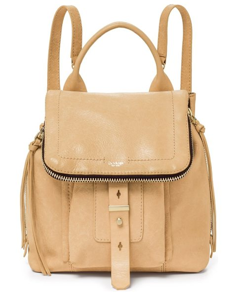 Botkier warren leather backpack in wheat - Slim straps and a modern flap further the street-chic...