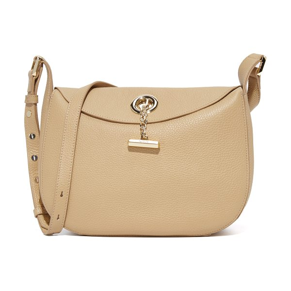 BOTKIER waverly shoulder bag in wheat - A polished toggle secures the slim top flap of this...