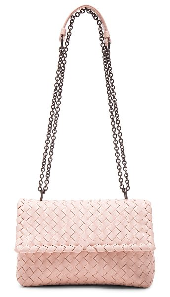Bottega Veneta Baby olimpia chain bag in pink - Intrecciato nappa leather with suede lining and...