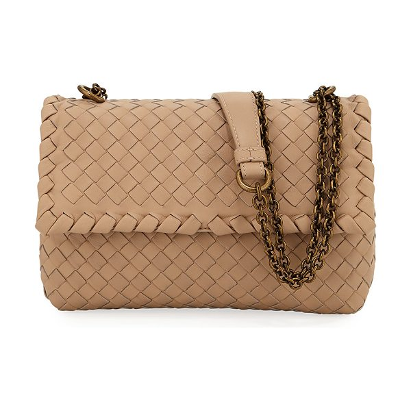 BOTTEGA VENETA Baby Olimpia Intrecciato Leather Shoulder Bag - Bottega Veneta shoulder bag in signature intrecciato...