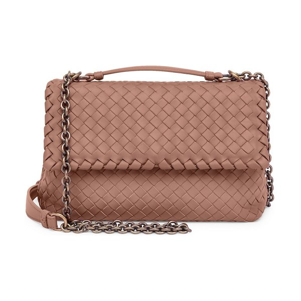 Bottega Veneta baby olimpia leather shoulder bag in rose