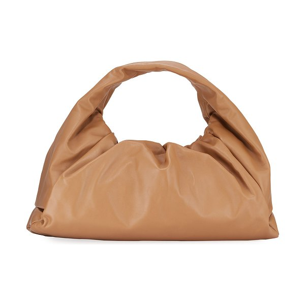 Bottega Veneta The Shoulder Pouch Bag in Butter Napa - Medium in light brown