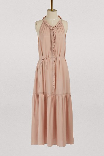 Bottega Veneta Midi dress in peach rose