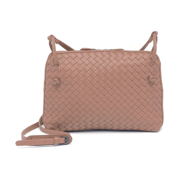 Bottega Veneta pillow intrecciato leather crossbody bag in decorose - Signature woven leather satchel, with knot detail....