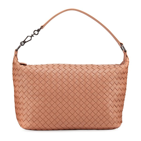 Bottega Veneta Small East-West Zip Hobo Bag in medium beige - EXCLUSIVELY AT NEIMAN MARCUS (Black only) Woven Bottega...