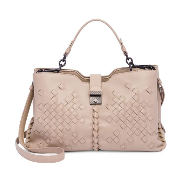 Bottega Veneta textured tote in mink - Trend-savvy tote boasts enough space for daily needs....