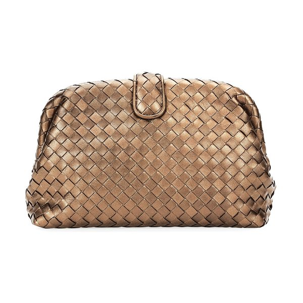 Bottega Veneta The Lauren 1980 Napa Leather Clutch Bag in gold