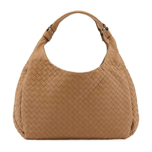 Bottega Veneta Veneta medium intrecciato ball hobo bag in camel - Bottega Veneta ball-shaped hobo bag in signature...