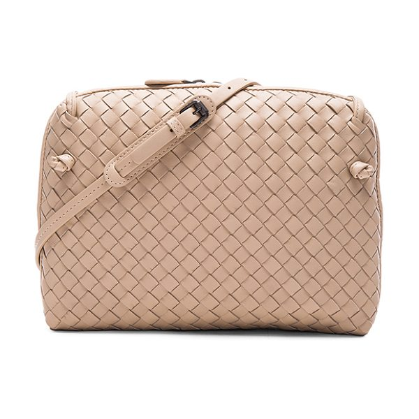 Bottega Veneta Woven Leather Shoulder Bag in neutrals - Intrecciato nappa leather with suede lining and...