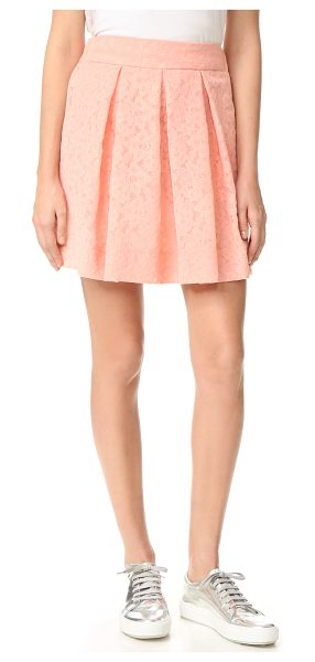 BOUTIQUE MOSCHINO pleated skirt in pink - Floral embroidery creates a lace-like effect on this...