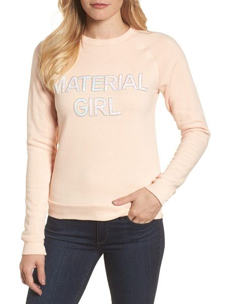 Bow & Drape material girl sweatshirt in blush - Add a bit of '80s attitude to your look with a cozy...