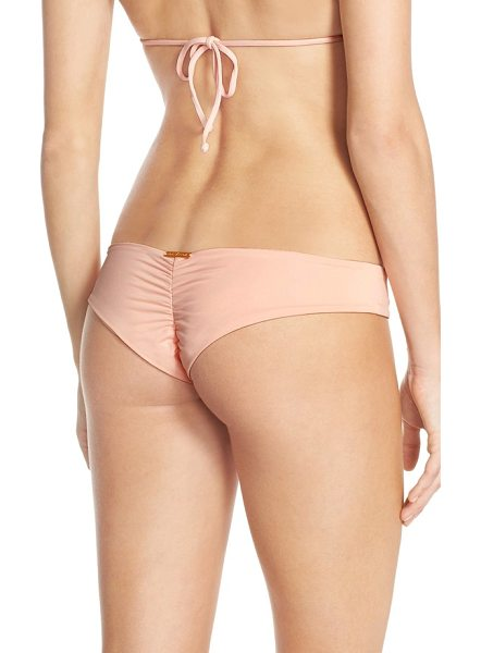 BOYS + ARROWS clairee the criminal brazilian bikini bottoms in coral - Supersoft microfiber and a seamless design make these...
