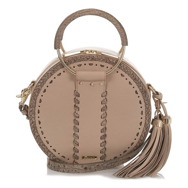 Brahmin lane circle crossbody bag in brown
