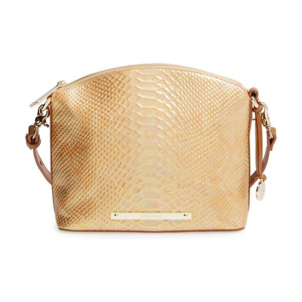 Brahmin Mini duxbury crossbody bag in fire opal