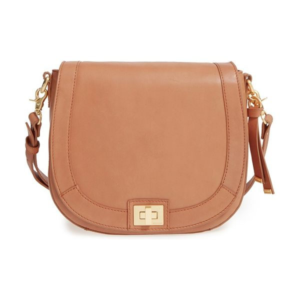 BRAHMIN sonny southcoast leather crossbody bag - A curved, equestrian-inspired silhouette adds a classic...