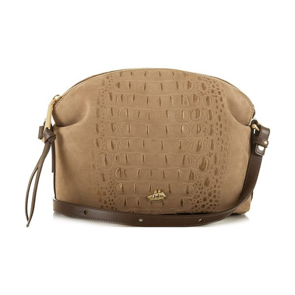 BRAHMIN southcast haley metallic croc embossed leather crossbody bag - At once contemporary and luxe, this softly shimmering...