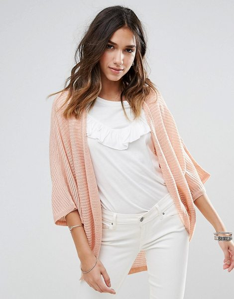 "Brave Soul Cocoon Cardigan in pink - """"Cardigan by Brave Soul, Textured knit, Open front,..."