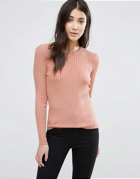 BRAVE SOUL Crew Neck Rib Sweater - Sweater by Brave Soul, Soft-touch knit, Crew neck,...