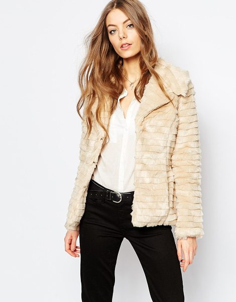Brave Soul Cropped faux fur jacket in camel - Jacket by Brave Soul, Faux fur fabric, Lined design,...