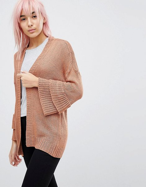 Brave Soul frill sleeve cardigan in terracotta - Cardigan by Brave Soul, Open front, Ruffle sleeves, For...