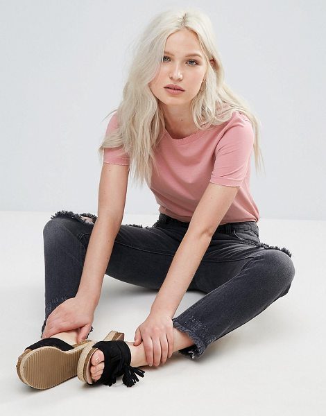 "Brave Soul Rib T-Shirt in pink - """"Top by Brave Soul, Soft-touch jersey, Crew neck,..."