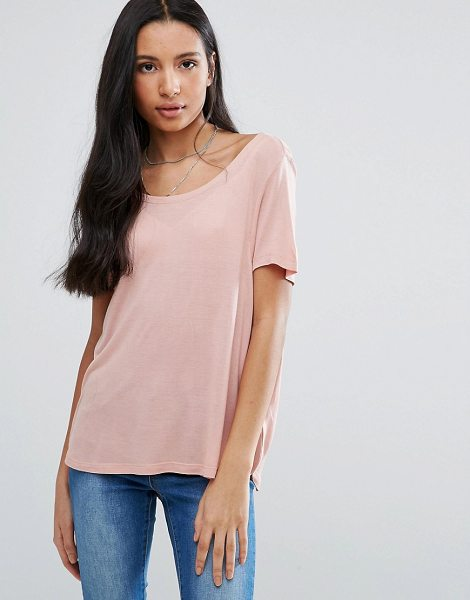 """Brave Soul Scoop Neck T-Shirt in pink - """"""""Top by Brave Soul, Soft-touch jersey, Scoop neck,..."""