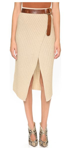 Brochu Walker loma ribbed knit skirt in dune melange - A classic Brochu Walker skirt rendered in a ribbed knit....